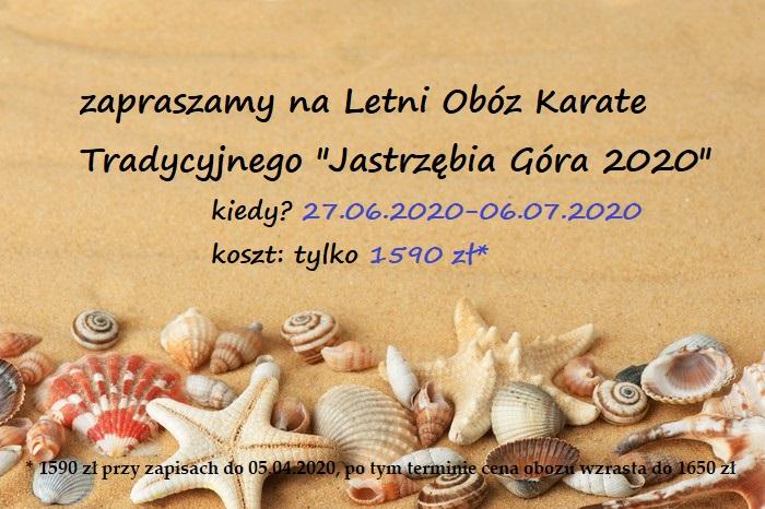 """Letni Obóz Karate Tradycyjnego """"Jastrzębia Góra 2020"""""""